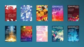 Комплект технологий дизайна брошюры шаблонов плаката вектора, App Стоковые Фото