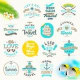 Комплект типа дизайна летних каникулов Стоковые Фотографии RF