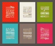 Комплект типа дизайна рождества Стоковые Изображения