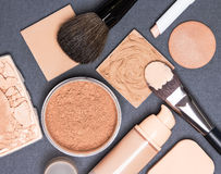 Комплект тона и цвета лица кожи продуктов состава даже вне Стоковое Фото