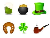 Комплект торжества дня счастливого St. Patrick Стоковые Изображения