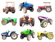 Комплект трактора изолированный на белизне Стоковое Фото