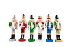 Комплект традиционных Щелкунчиков рождества figurines Стоковые Изображения RF