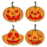 Комплект тыквы Halloween Стоковые Изображения RF