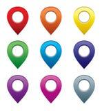 Комплект указателей карты бесплатная иллюстрация