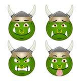 Комплект улыбки Orc Стоковые Изображения