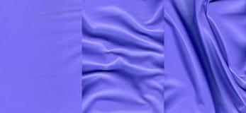 Комплект ультрамариновых кожаных текстур Стоковое Изображение RF