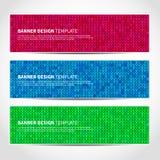 Комплект ультрамодного шаблона знамен рождества Стоковое Фото
