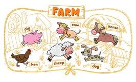 комплект фермы животных Стоковые Фотографии RF