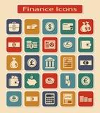 Комплект финансовых значков бесплатная иллюстрация