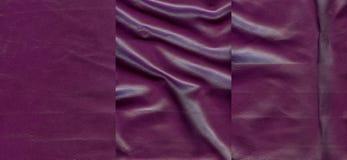 Комплект фиолетовых кожаных текстур Стоковые Фотографии RF