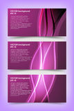 Комплект фиолетовых шаблонов знамени Стоковые Изображения