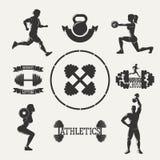 Комплект фитнеса вектора Иллюстрация вектора
