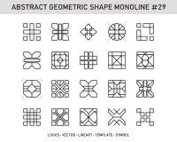 Комплект формы геометрического элемента Стоковое Фото