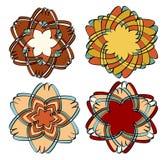 Комплект 4 форм дизайна в винтажном стиле Стоковые Фотографии RF