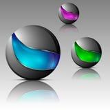 Комплект футуристических шаров Стоковая Фотография