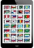 Комплект флага Стоковое Изображение RF