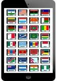 Комплект флага Стоковые Фотографии RF