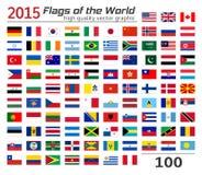 Комплект флагов различных стран Стоковое Изображение