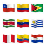 Комплект флагов различных стран Стоковое Фото