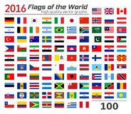 Комплект флагов различных стран Стоковые Изображения