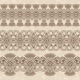 Комплект флористических безшовных орнаментов Стоковое Изображение