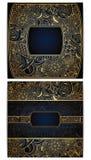 Комплект флористических карточек Стоковая Фотография RF