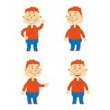 Комплект характера студента вектора счастливого Стоковая Фотография