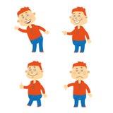 Комплект характера студента вектора счастливого Стоковая Фотография RF