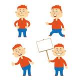 Комплект характера студента вектора счастливого Стоковое Изображение