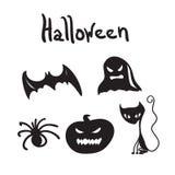 Комплект характеров хеллоуина для desigen Стоковая Фотография