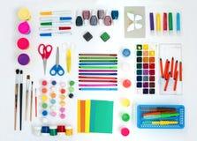 Комплект художнических инструментов Стоковое Изображение RF