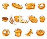 Комплект хлеба. Вектор Стоковые Изображения RF