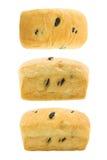 Комплект хлеба изюминки изолированный на белой предпосылке Стоковые Изображения RF