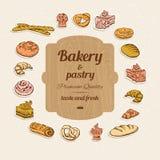 Комплект хлеба и печенья Иллюстрация штока