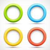 Комплект цветастых знамен круга Стоковая Фотография RF