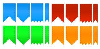 Комплект цветастых тесемок иллюстрация вектора