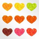 Комплект цвета лист осени сердец бесплатная иллюстрация
