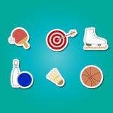 Комплект цвета с значками спорта Стоковое Изображение RF