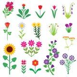 Комплект цветка Стоковые Изображения RF