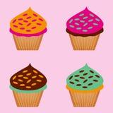 Комплект цветов пирожных Стоковые Фотографии RF