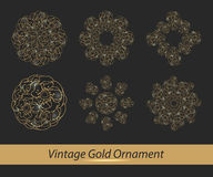Комплект цветочного узора Стоковая Фотография