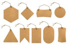 Комплект ценников с бумажной текстурой Стоковое Изображение