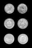 Комплект центральных американских монеток стран Стоковое Изображение RF