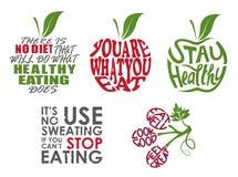 Комплект цитат здоровья бесплатная иллюстрация