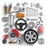 Комплект частей автомобиля Стоковые Изображения