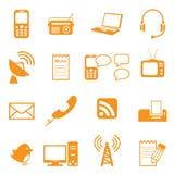комплект части milo икон иконы связи Стоковое фото RF