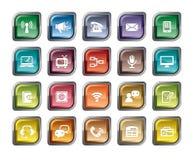 комплект части milo икон иконы связи Стоковые Фото