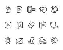 комплект части milo икон иконы связи Стоковая Фотография RF