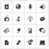 комплект части milo икон иконы связи Стоковые Фотографии RF